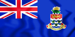 Flag of the Cayman Islands. 3D Illustration. Royalty Free Stock Images
