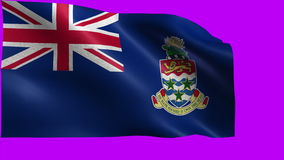 Flag of Cayman Islands, Territory of the United Kingdom - LOOP. Beautiful 3d flag animation on green/blue screen in 4k format - seamless looped stock footage