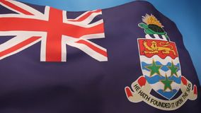 Flag of the Cayman Islands stock video
