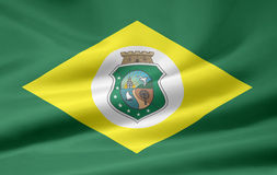 Flag of Ceara. The flag symbolizes the brazil state of Ceara Royalty Free Stock Images