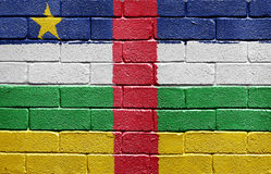Flag of the Central African Republic on brick wall Stock Photography