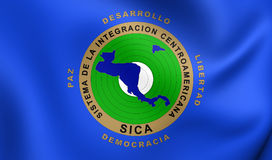 Flag of Central American Integration System Royalty Free Stock Images