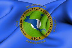 Flag of Central American Integration System. 3d Rendered Flag of Central American Integration System Royalty Free Stock Images