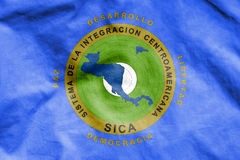 Flag of Central American Integration System. 3d Rendered Flag of Central American Integration System Stock Images