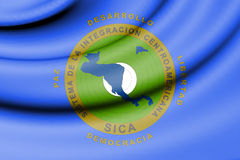 Flag of Central American Integration System. 3d Rendered Flag of Central American Integration System Stock Image