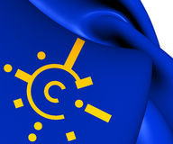 Flag of Central European Free Trade Agreement Royalty Free Stock Image