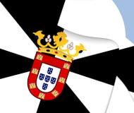 Flag of Ceuta, Spain. Stock Image