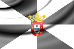 Flag of Ceuta, Spain. Stock Images