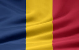 Flag of Chad. Very large version of a chadian flag Stock Images