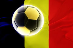 Flag of Chad wavy soccer Stock Photography