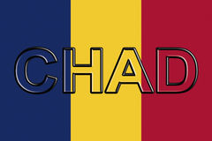 Flag of Chad Word Royalty Free Stock Photography
