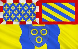 Flag of Chalon-sur-Saone, France. Flag of Chalon-sur-Saone is a commune in the Saône-et-Loire department in the region of Bourgogne-Franche-Comté in stock illustration
