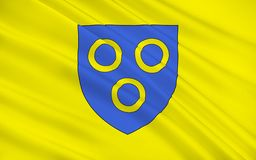 Flag of Chalon-sur-Saone, France. Flag of Chalon-sur-Saone is a commune in the Saône-et-Loire department in the region of Bourgogne-Franche-Comté in royalty free illustration