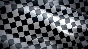 Flag of Chequered stock video footage