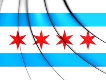 Flag of Chicago, USA. 3D Illustration Royalty Free Stock Image