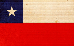 Flag of chile Stock Image