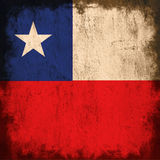 Flag of chile Stock Photography