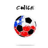 Flag of Chile as an abstract soccer ball. Abstract soccer ball painted in the colors of the Chile flag. Vector illustration royalty free illustration