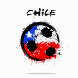 Flag of Chile as an abstract soccer ball. Abstract soccer ball painted in the colors of the Chile flag. Vector illustration stock illustration