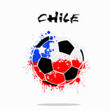 Flag of Chile as an abstract soccer ball. Abstract soccer ball painted in the colors of the Chile flag. Vector illustration vector illustration