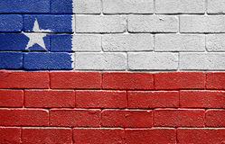 Flag of Chile on brick wall Stock Photography