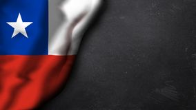 Flag of chile on a chalk background stock illustration