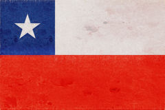 Flag of Chile Grunge Royalty Free Stock Photography
