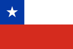 Flag of Chile. Royalty Free Stock Image