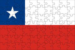 Flag of Chile puzzle Royalty Free Stock Images