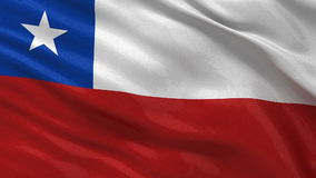 Flag of Chile seamless loop Stock Photos