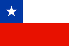 Flag of Chile. Vector illustration Royalty Free Stock Images