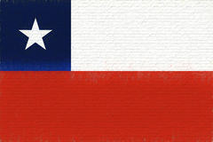 Flag of Chile Wall Royalty Free Stock Photography