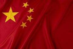 Flag of China. Shot of wavy Chinese flag Royalty Free Stock Images