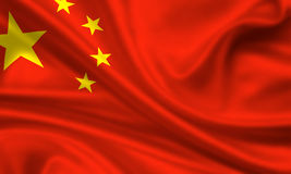 Flag of China Stock Photo