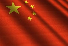 Flag of China. Flag of Chinese People`s Republic Stock Photos