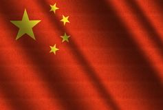 Flag of China. Flag of Chinese People`s Republic Stock Image