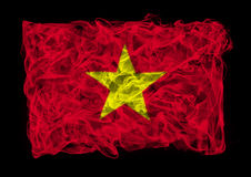 Smoky flag of China Royalty Free Stock Image