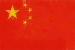 Flag of China Grunge. Royalty Free Stock Photo