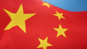 Flag of China. The national flag of the People's Republic of China since its creation in 1949 stock video
