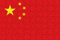 Flag of China puzzle Stock Images