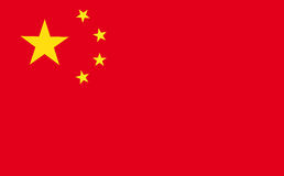 Flag of China. Vector illustration of the flag of China Royalty Free Stock Photography