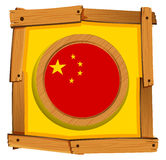 Flag of China in wooden frame Stock Image