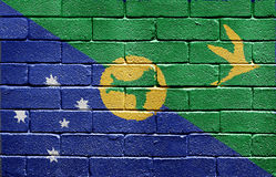 Flag of Christmas Island on brick wall Stock Photography