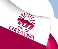 Flag of Chula Vista, USA. Close Up Stock Image