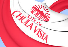 Flag of Chula Vista, USA. 3D Flag of Chula Vista, USA. Close Up Royalty Free Stock Photography