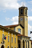 Flag church albizzate varese Royalty Free Stock Image