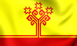 Flag of Chuvash Republic, Russia. Royalty Free Stock Image