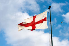 Flag of the City of Genova - Italy Royalty Free Stock Images