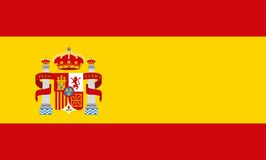 Flag classic icon of Spanish culture. Vector illustration design Royalty Free Stock Image