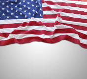 Flag. Closeup of American flag on grey background Stock Images